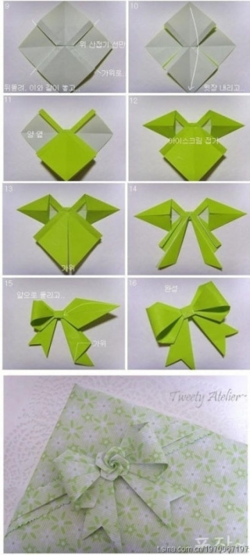 How To Make Origami Paper Bows 3