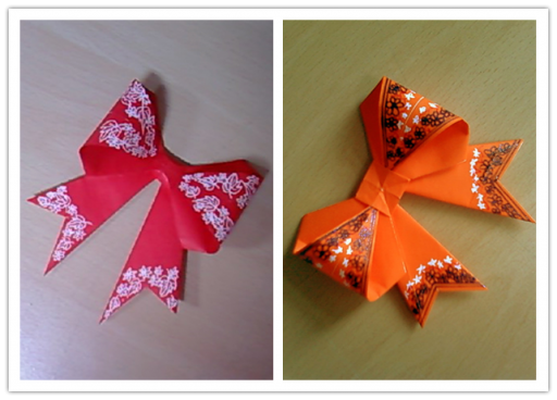How To Make Origami Paper Bows