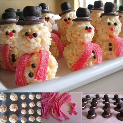 How To Make Rice Krispie Snowman