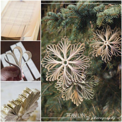 How To Make Snowflake Decorations