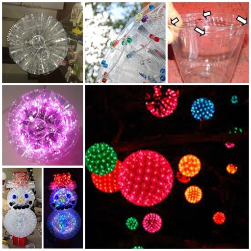 How To Make Sparkle Ball Decorations From Plastic Cups 2
