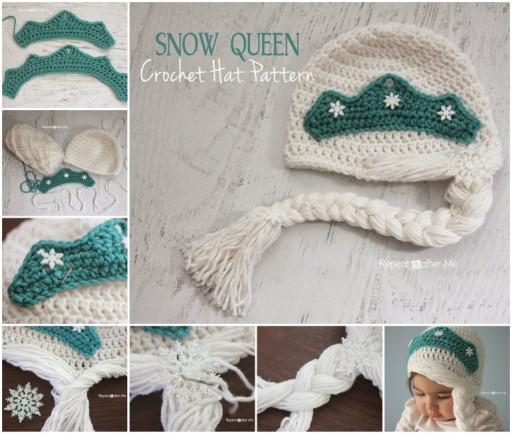 Snow Queen Crochet Hat Pattern