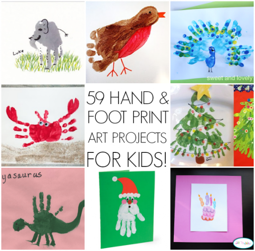 59 Hand And Foot Print Art Projects For Kids