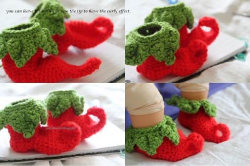 Chili Elf Baby Shoes Crochet Tutorial