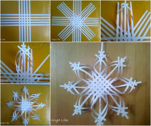 DIY 3D Snowflake Paper Crafts