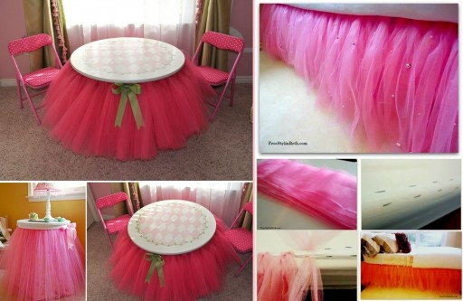 DIY No Sew Beaded Tutu Bedskirt Tutorial