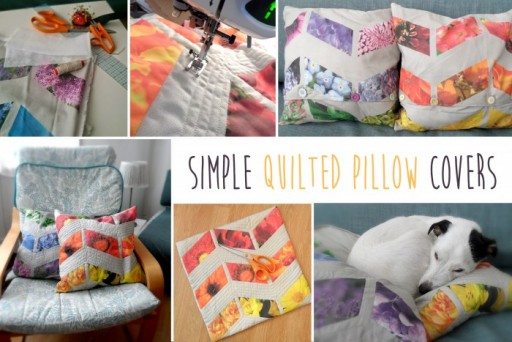 DIY Quilted Pillow Covers