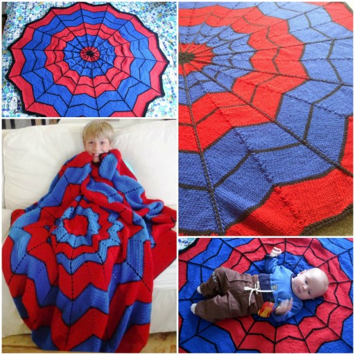 DIY Spiderman Blanket Free Crochet Pattern
