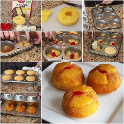 DIY Upside Down Pineapple Cupcake Recipe