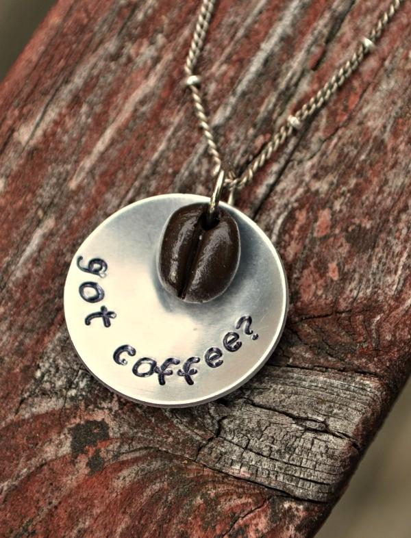 DIY coffee lover necklace