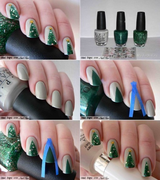 How To Do Christmas Tree Nail Art