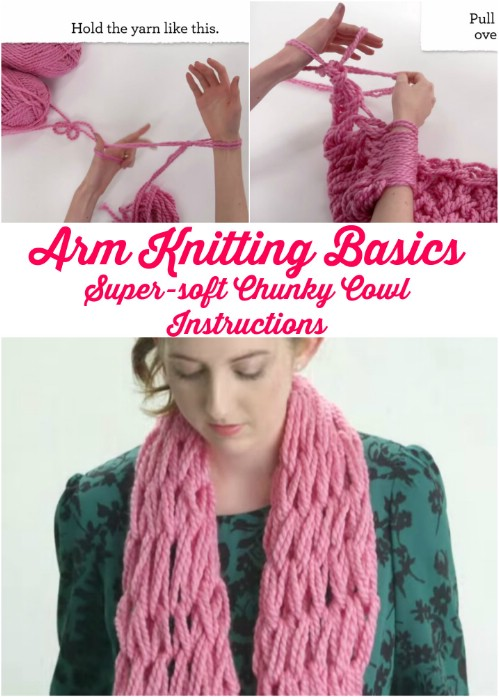 How To Knit - Easy Arm Knitting For Beginners
