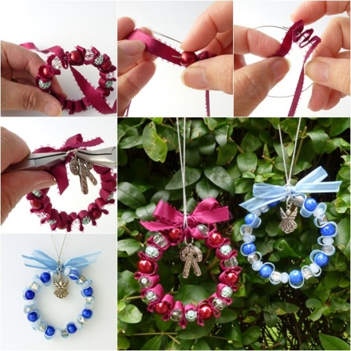 How To Make Bead And Ribbon Christmas Ornaments