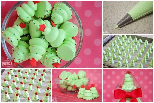 How To Make Christmas Tree Meringues