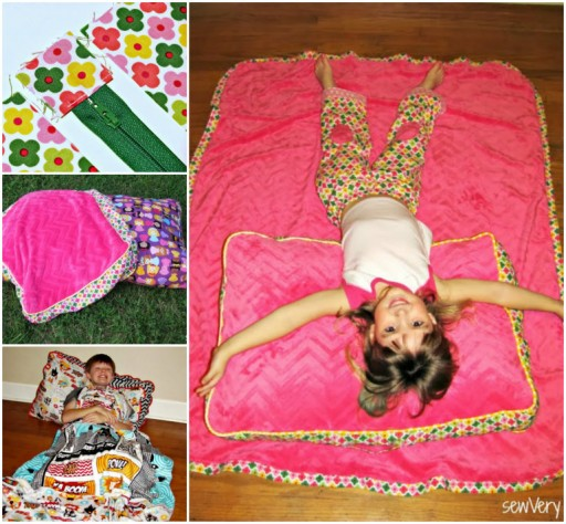 How To Make Cuddle Floor Pillow And Blanket
