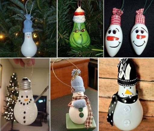 How To Make DIY Light Bulb Christmas Decorations
