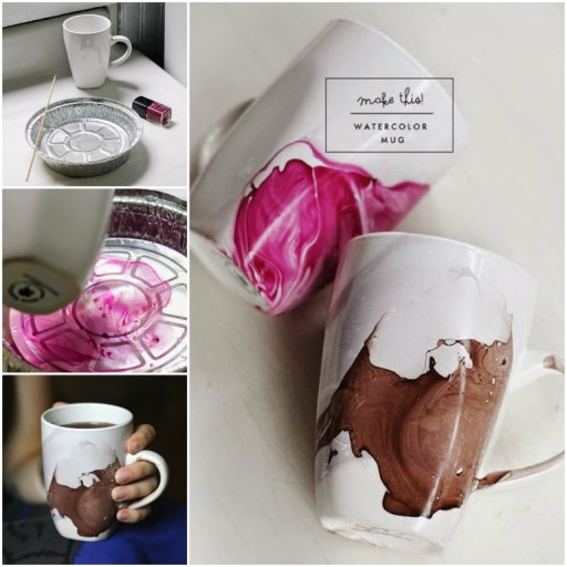 How To Make DIY Watercolor Mug 1