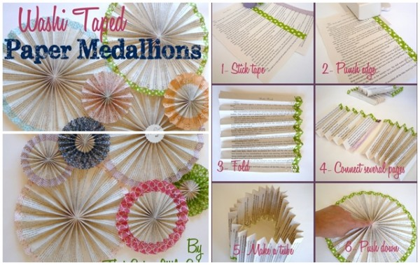 How To Make Washi Tape Paper Medallion Backdrops