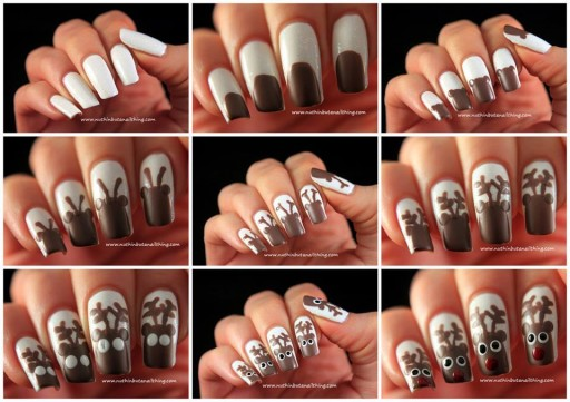 How To Paint Reindeer Nail Art