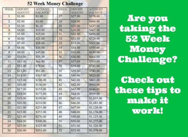 How To Save Money - 52 Week Money Challenge