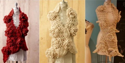 Irish Lace Scarf Free Crochet Pattern