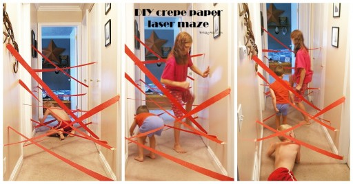 Kids Activities - DIY Crepe Paper Laser Maze