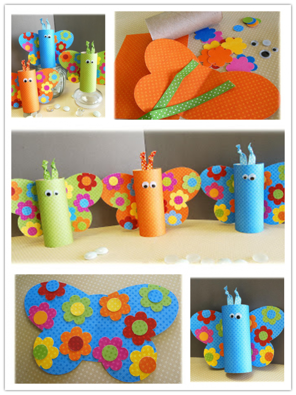 Toilet Paper Roll Crafts - Butterfly Crafts For Kids 1
