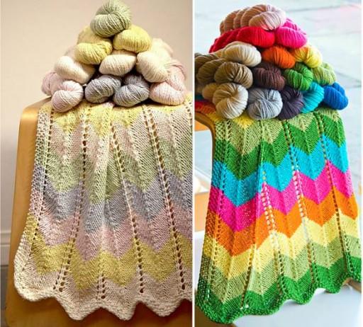 Zigzag Knitting Pattern Baby Blanket : Zig Zag Baby Blanket Free Knit Pattern DIY Tag