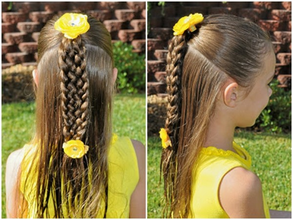 Cute Seven-strand Braid Hairstyle