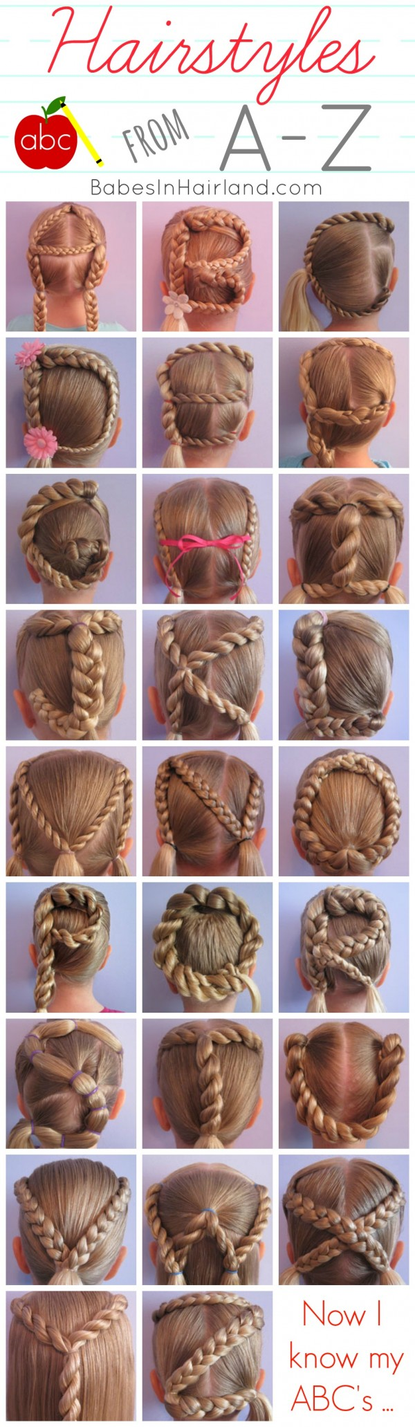 DIY Alphabet Braided Hairstyles