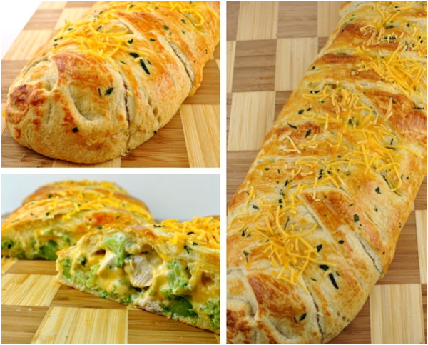 DIY Broccoli Cheddar Chicken Crescent Braid Recipe