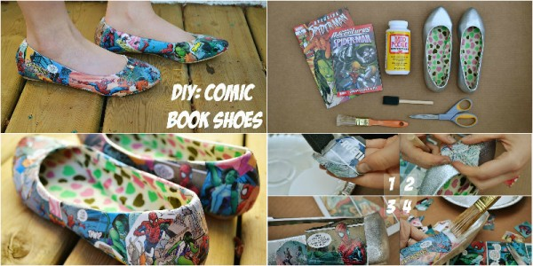 DIY Comic Book Shoes 1