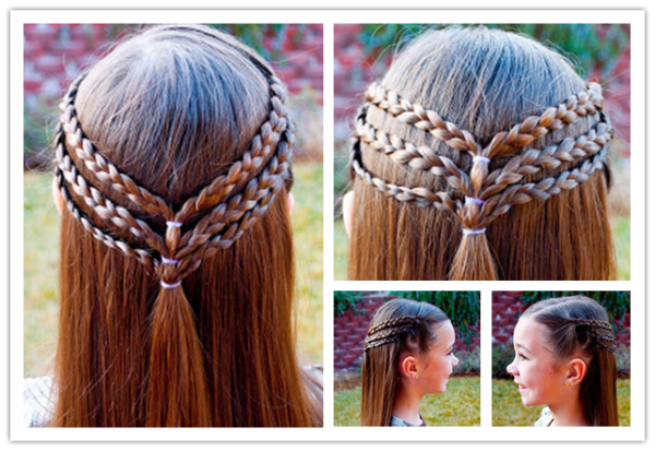 DIY Cute Princess Hairstyle For Long Hair