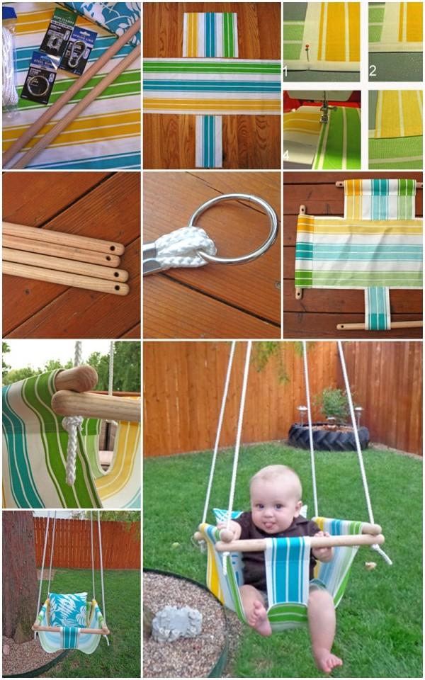 DIY Hammock Style Baby Swing 1