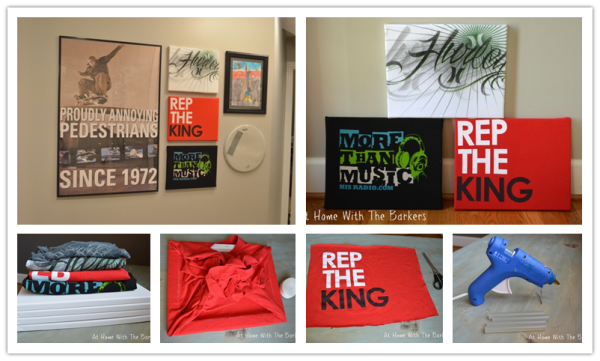 DIY Wall Art With T-shirts 2