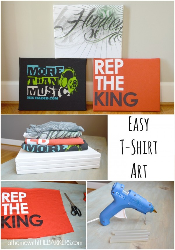 DIY Wall Art With T-shirts