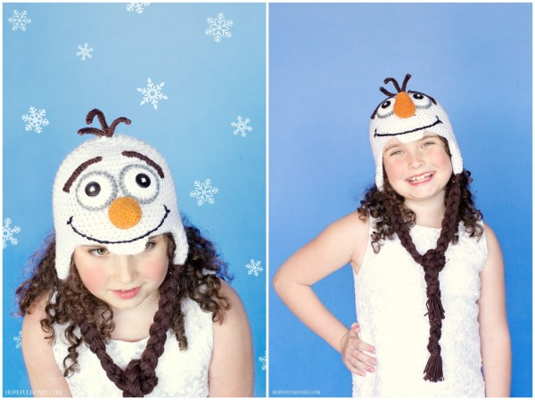Frozen Olaf Inspired Crochet Hat Pattern