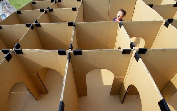 Fun Activities For Kids - Cardboard Box Maze 1