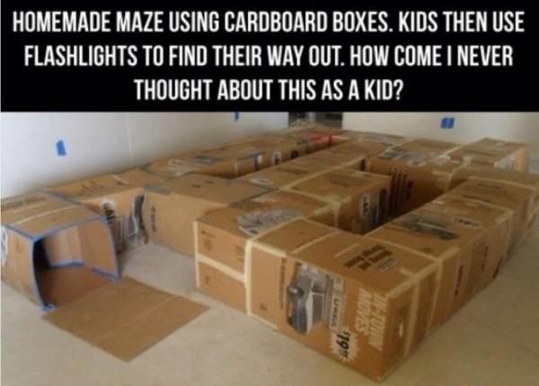 Fun Activities For Kids - Cardboard Box Maze