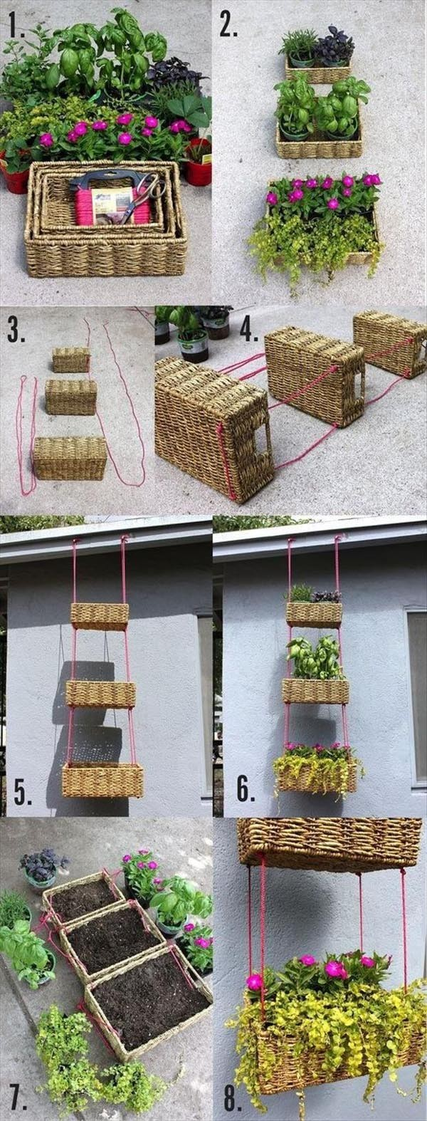 Hanging Baskets DIY Tutorial 1