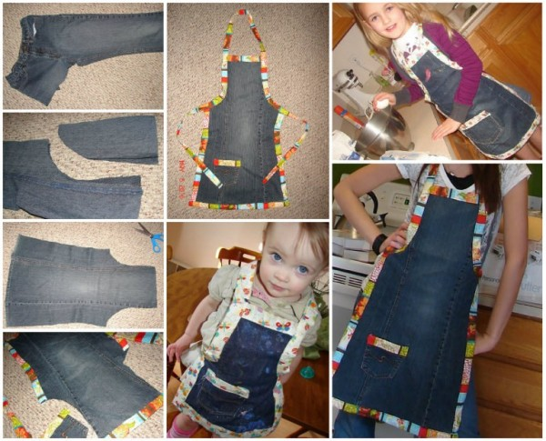 How To Make Upcycled Jeans Apron