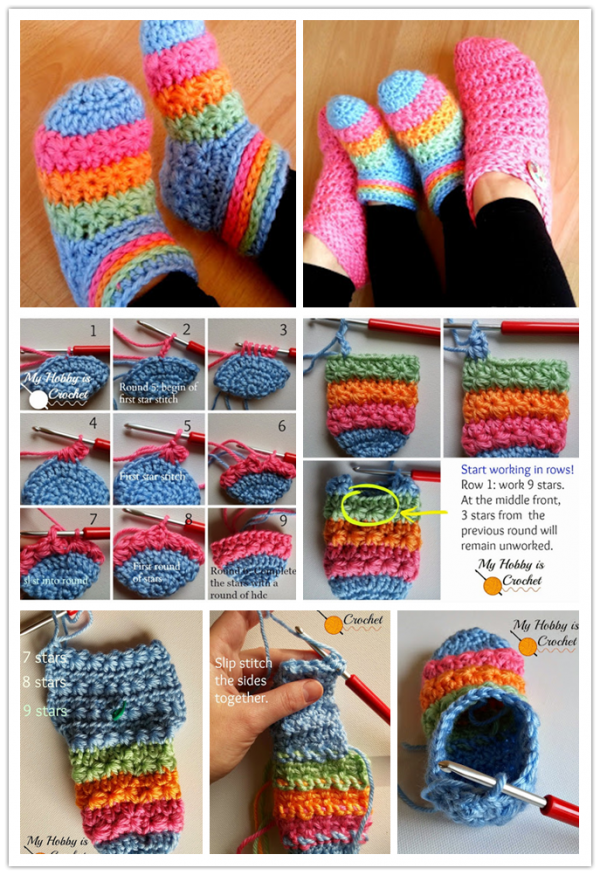 Toddler Slippers Free Crochet Pattern 1