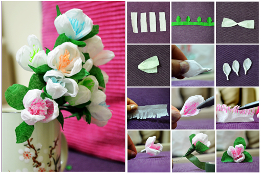 Diy crepe paper flowers diy tag more diy instructions mightylinksfo