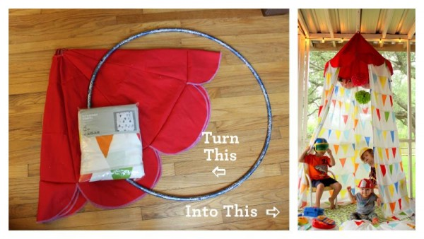 Canopy Tent With Hula Hoop & Canopy Tent With Hula Hoop | DIY Tag