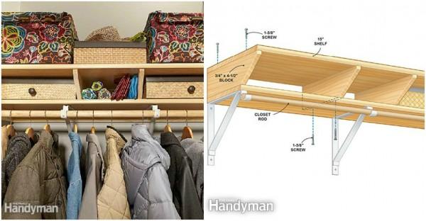 Closet Shelves - Twin Closet Shelf Design