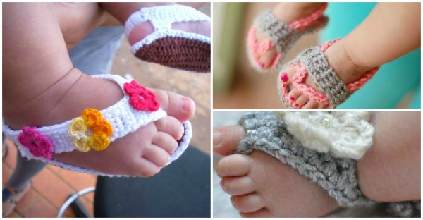 Crochet Baby Toe Sandals Free Pattern : Crochet Baby Sandals DIY Tag