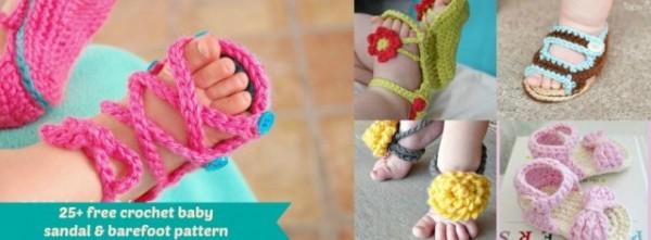 Crochet Baby Sandals - 25 Free Patterns