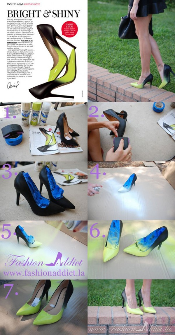 DIY Jimmy Choo Ombre Shoes 1