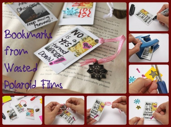 How To Make Bookmarks From Wasted Polaroid Films