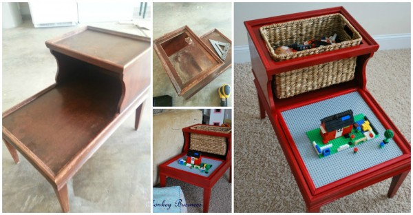 How To Re-purpose A Side Table Into A Lego Table 1